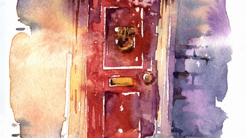 Red Door in winter