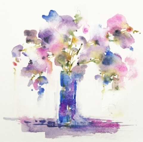 Delicate Moments Beginner Loose Watercolours