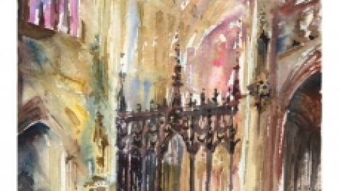Ely Cathedral Plein air …but indoors!