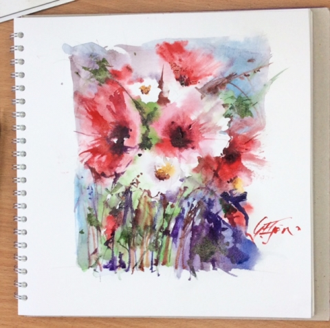 Sketchbook Painting 1 Loose Florals